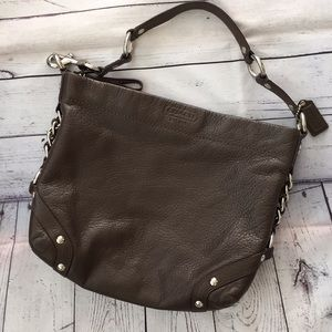Beautiful Unmarked Coach Soft Grain Leather Hobo